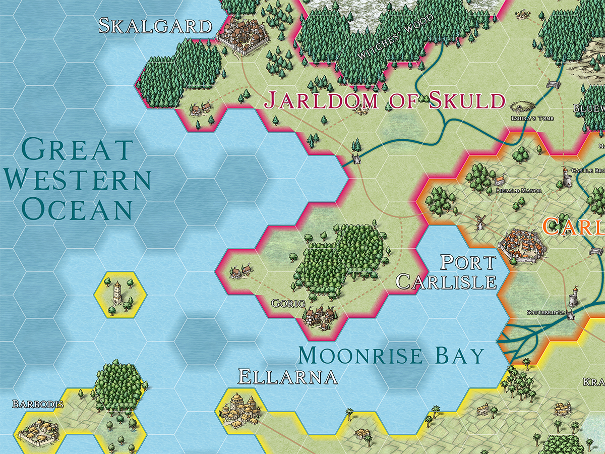 CC3+ Hex map